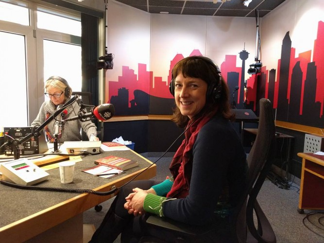 Jacqueline at CBC Radio with Donna McElligott
